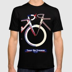 Tour De France Mens Fitted Tee Black LARGE