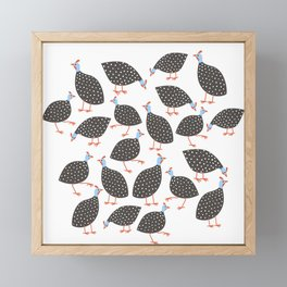 Guinea Hens Framed Mini Art Print