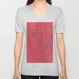 Muted Red Tie Dye Unisex V-Neck