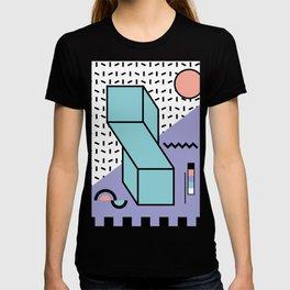 Memphis Pattern - 80s Retro - Pastel Colors T-shirt