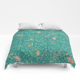 Koi Pond in Dappled Light Comforters