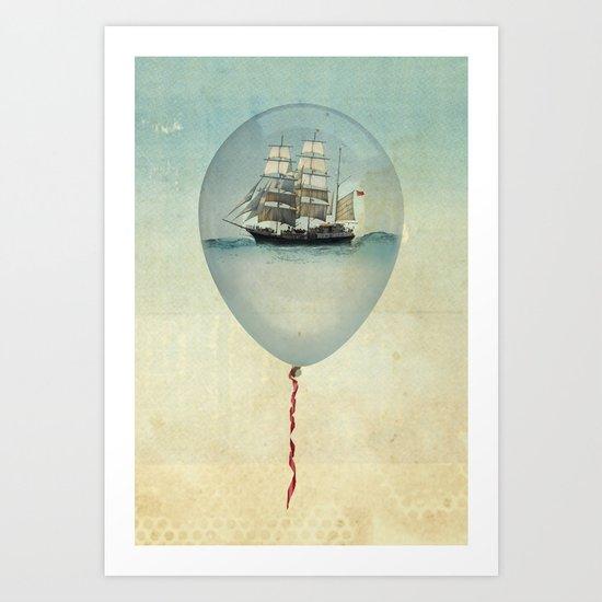 All at Sea  Art Print