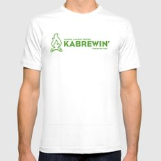 KABREWIN Mens Fitted Tee White MEDIUM