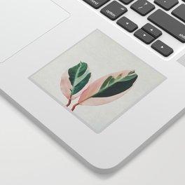 Pink Leaves I Sticker