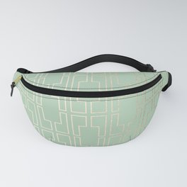 Simply Mid-Century in White Gold Sands and Pastel Cactus Green Fanny Pack