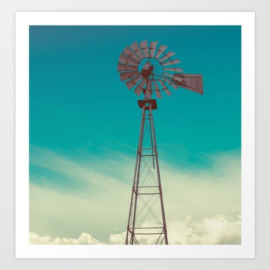 WINDMILL SKY  Art Print