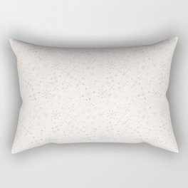 Out of Space, Planets, Stars Children's Pattern - White Rectangular Pillow