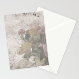 Floral Vintage Postcard bouquet of flowers Stationery Cards