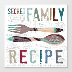 Secret Family Recipe Canvas Print