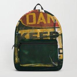 Danger sign Backpack