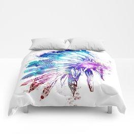 mandala colorful headdress Comforters