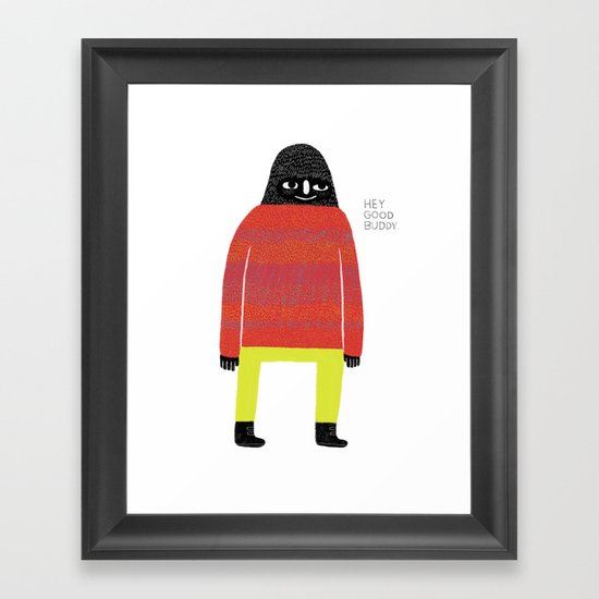 Good Buddy Framed Art Print