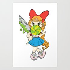 Lolipop Cuteness Art Print