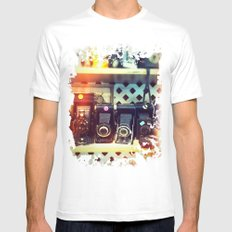 Camera Shop MEDIUM White Mens Fitted Tee