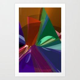 colorful 3D-pattern -4- Art Print