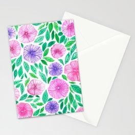 Watercolor petunia garden Stationery Cards