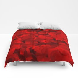 Rich Scarlet Red Gradient Abstract Comforters