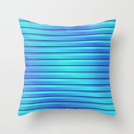 Two Color 3D Slats Throw Pillow