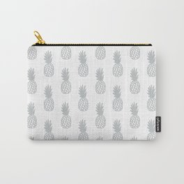 Light Grey Pineapple Carry-All Pouch