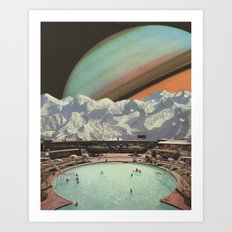 Saturn Spa Art Print