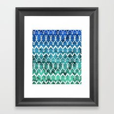 Triangle Tribal Framed Art Print
