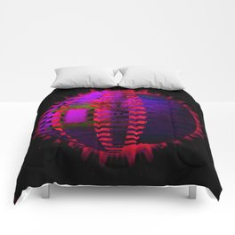 Purple Layered Star in Red Flames Comforters