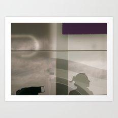 Self portait and purple  Art Print