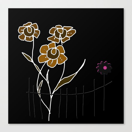 Painting flowers Canvas Print