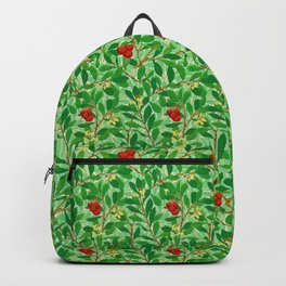 William Morris Lychee Tree Pattern, Light Jade Green Backpack