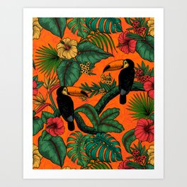 Toucan garden  2 Art Print