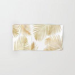 Gold Palm Leaves Hand & Bath Towel