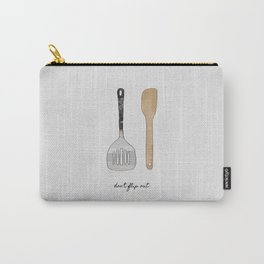 Don't Flip Out, Kitchen Wall Art Carry-All Pouch