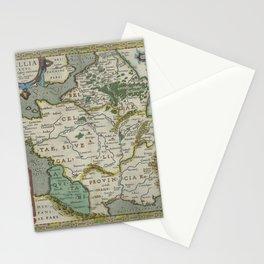 Vintage Map - Ortelius: Theatrum Orbis Terrarum (1606) - Roman France under Julius Caesar Stationery Cards
