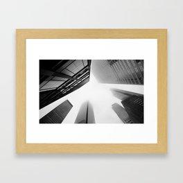 Buildings In The Mist Framed Art Print