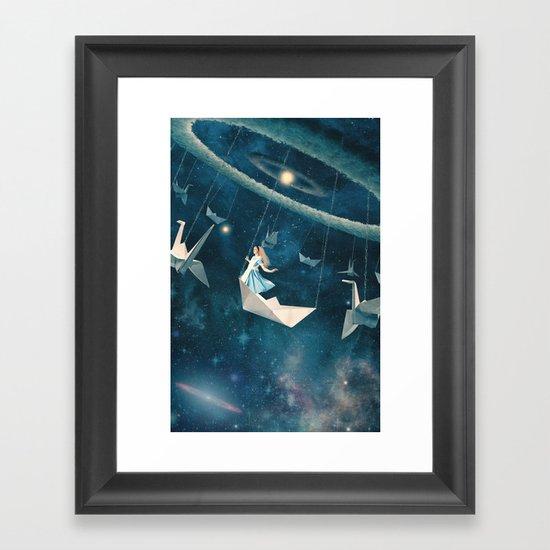 My Favourite Swing Ride Framed Art Print