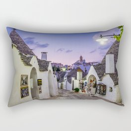 Alley between the Trulli of Alberobello Rectangular Pillow