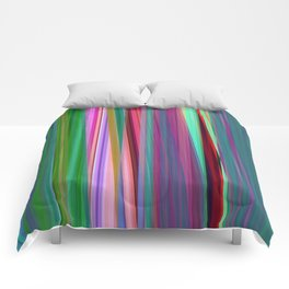 fall stripes Comforters