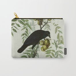 Vintage Crow Illustration Carry-All Pouch