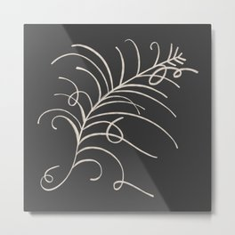 loopy feather Metal Print