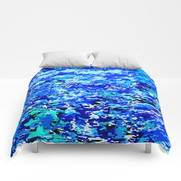 Blue Flames Background Comforters