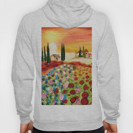 Tuscan Field of Poppies Hoody