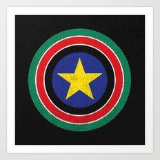 Captain South Sudan 2 Art Print