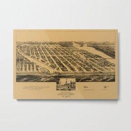 Map Of Asbury Park 1881 Metal Print