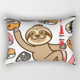 Sloth Sushi Tokyo Rectangular Pillow