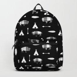 Buffalo Tribe on Black Backpack