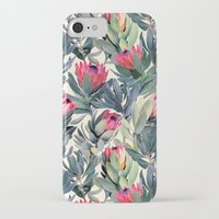 paint iPhone & iPod Cases featuring Painted Protea Pattern by micklyn