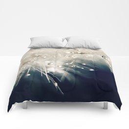 dandelion evening blue Comforters
