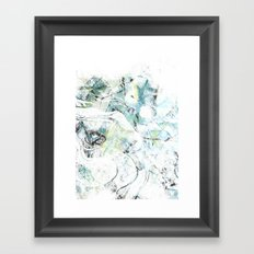 Icy Texture Framed Art Print