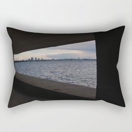 Sea City Skyline Rectangular Pillow