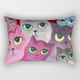 Topeka Whimsical Cats Rectangular Pillow